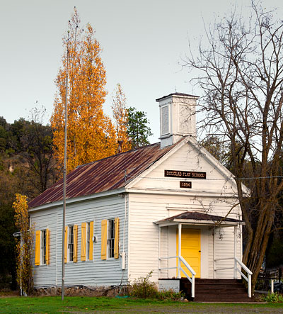 National Register #73000397: Douglas Flat Schoolhouse in Calaveras County