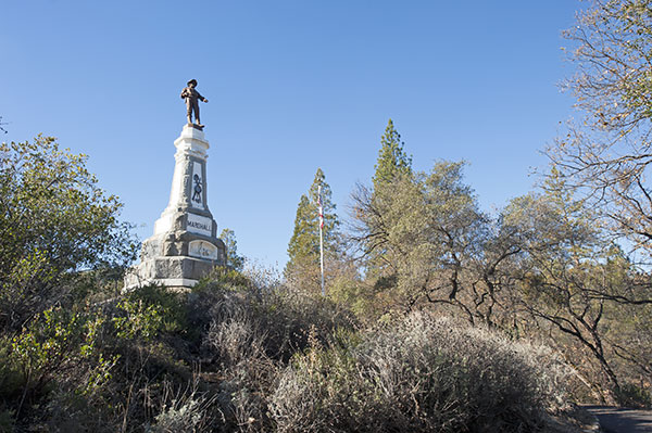 California Historical Landmark #143: James Marshall Gold Discovery Monument