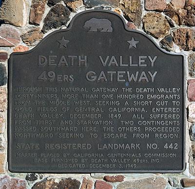 California Historical Landmark 442 Death Valley Gateway