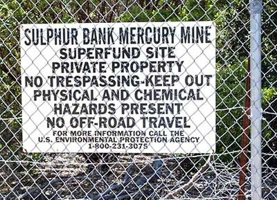 California Historical Landmark #428: Sulphur Bank Mine Site