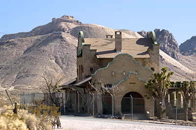 Ghost Town of Rhyolite in Nye County, Nevada