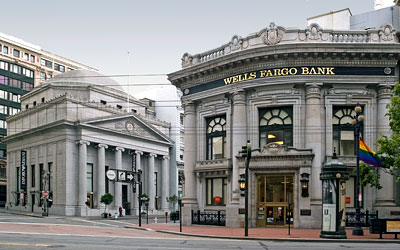 San Francisco Landmarks 132 and 131: Savings Union Bank and Union Trust Bank