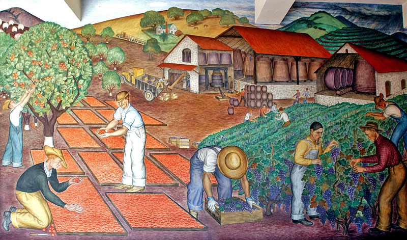 Finding wisdom coit tower murals san francisco life for Coit tower mural