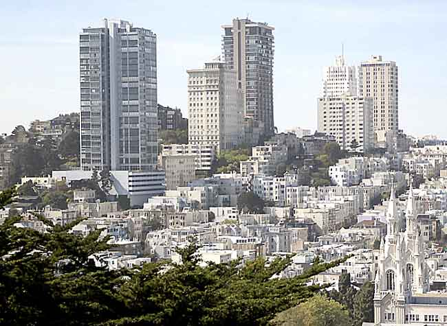 Russian Hill Viewed From Crest of Telegraph Hill